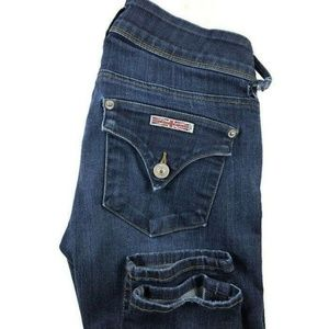 Hudson 25 Collin Midrise Skinny Jeans Dark Wash